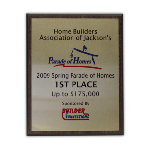 2009 Parade of Homes 1st Place